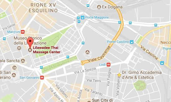 Lilawadee Traditional Thai Mage Center - Rome - directions on